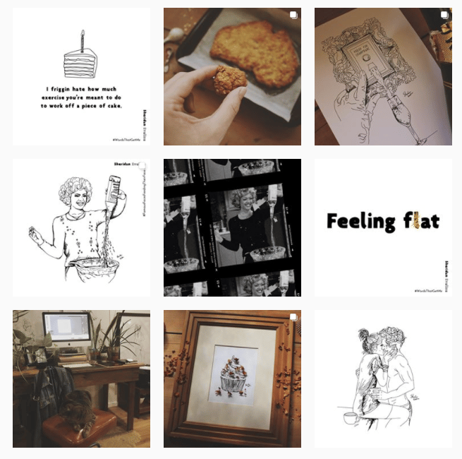 Girl who draws burgers + beers - image 2 - student project