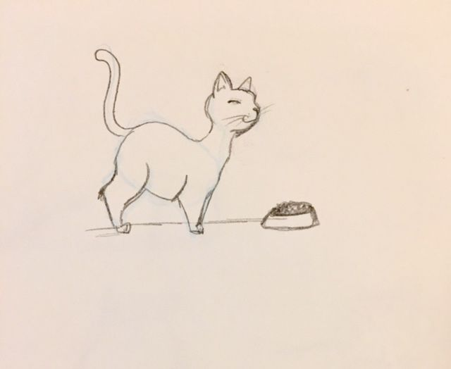 A quick sketch of my fat cat - image 2 - student project