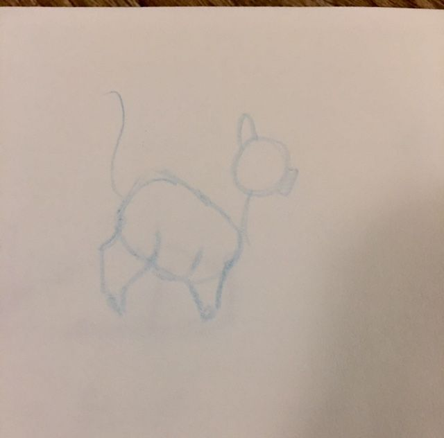 A quick sketch of my fat cat - image 1 - student project