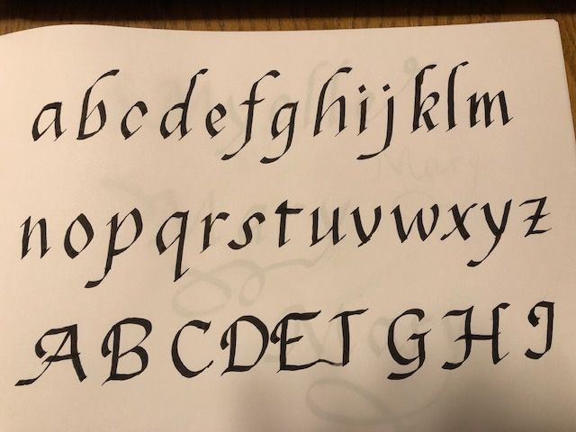 Italic Calligraphy - image 1 - student project