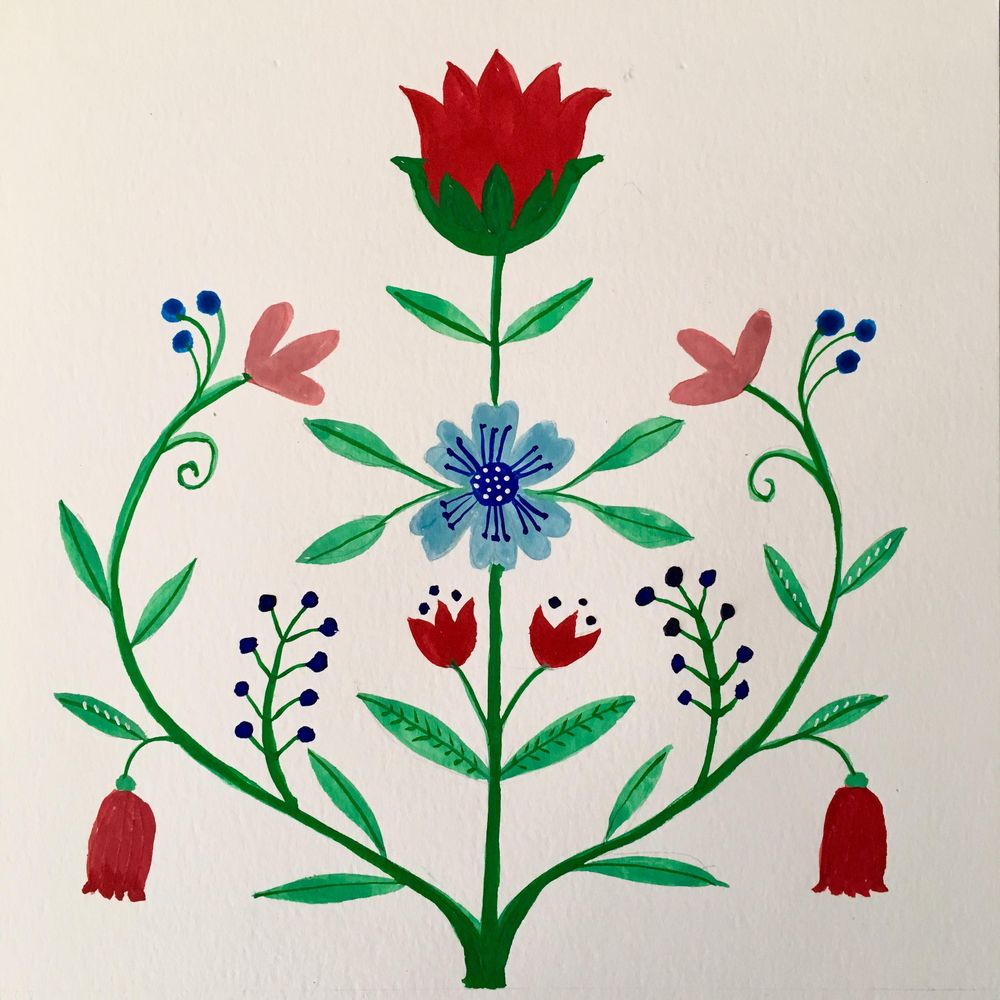 Symmetrical Floral - image 1 - student project