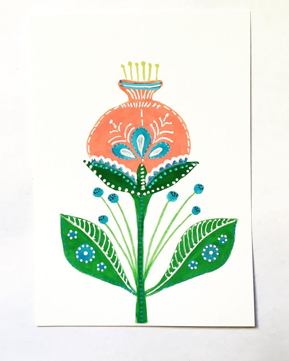 Folk Art Floral - image 1 - student project