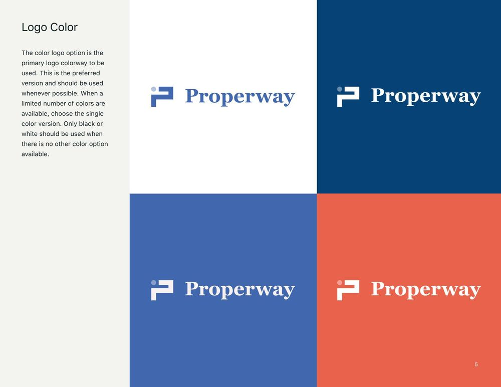 Properway brand styleguide - image 5 - student project