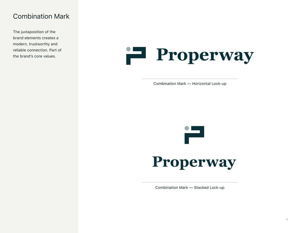 Properway brand styleguide - image 4 - student project