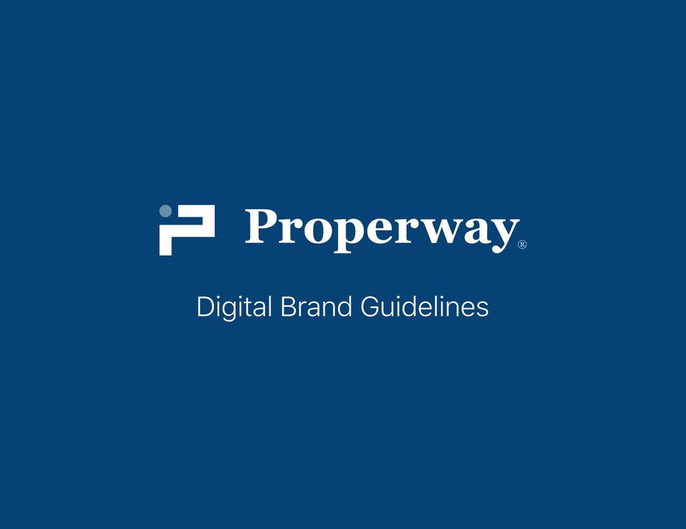Properway brand styleguide - image 1 - student project