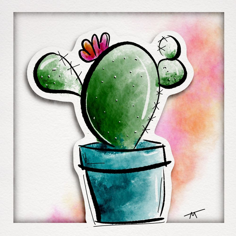 Cactus Cut out with fun background - image 1 - student project