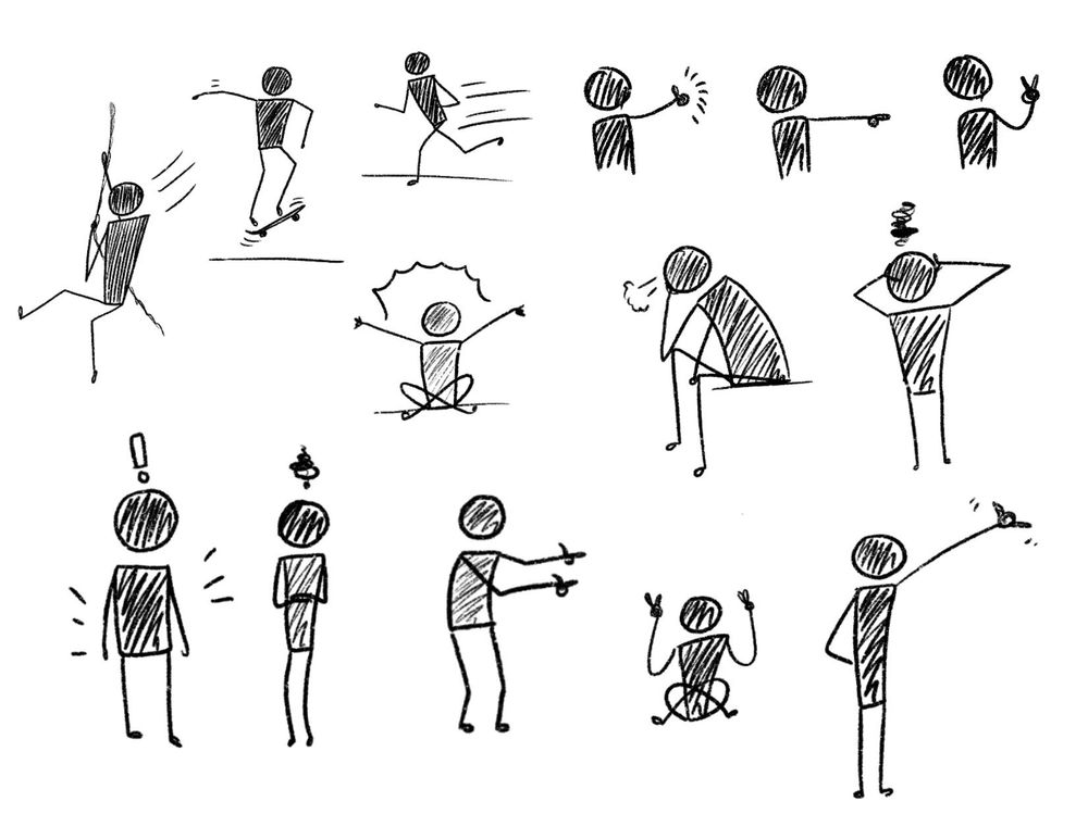 Doodle simple human figures - image 2 - student project
