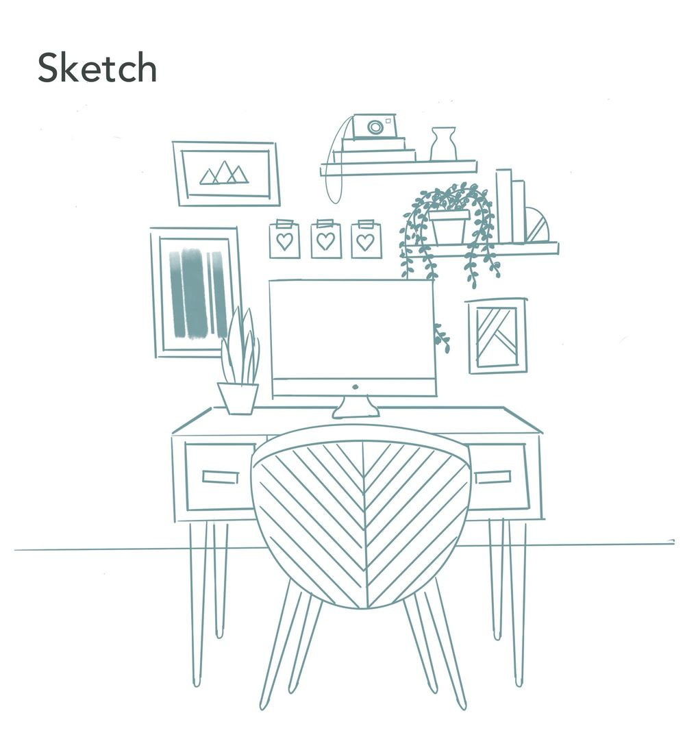 Office illustration - image 2 - student project
