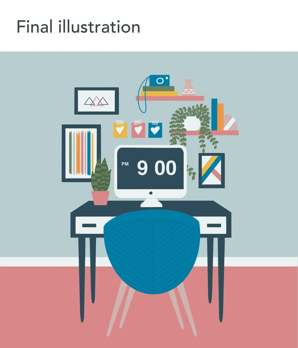 Office illustration - image 3 - student project