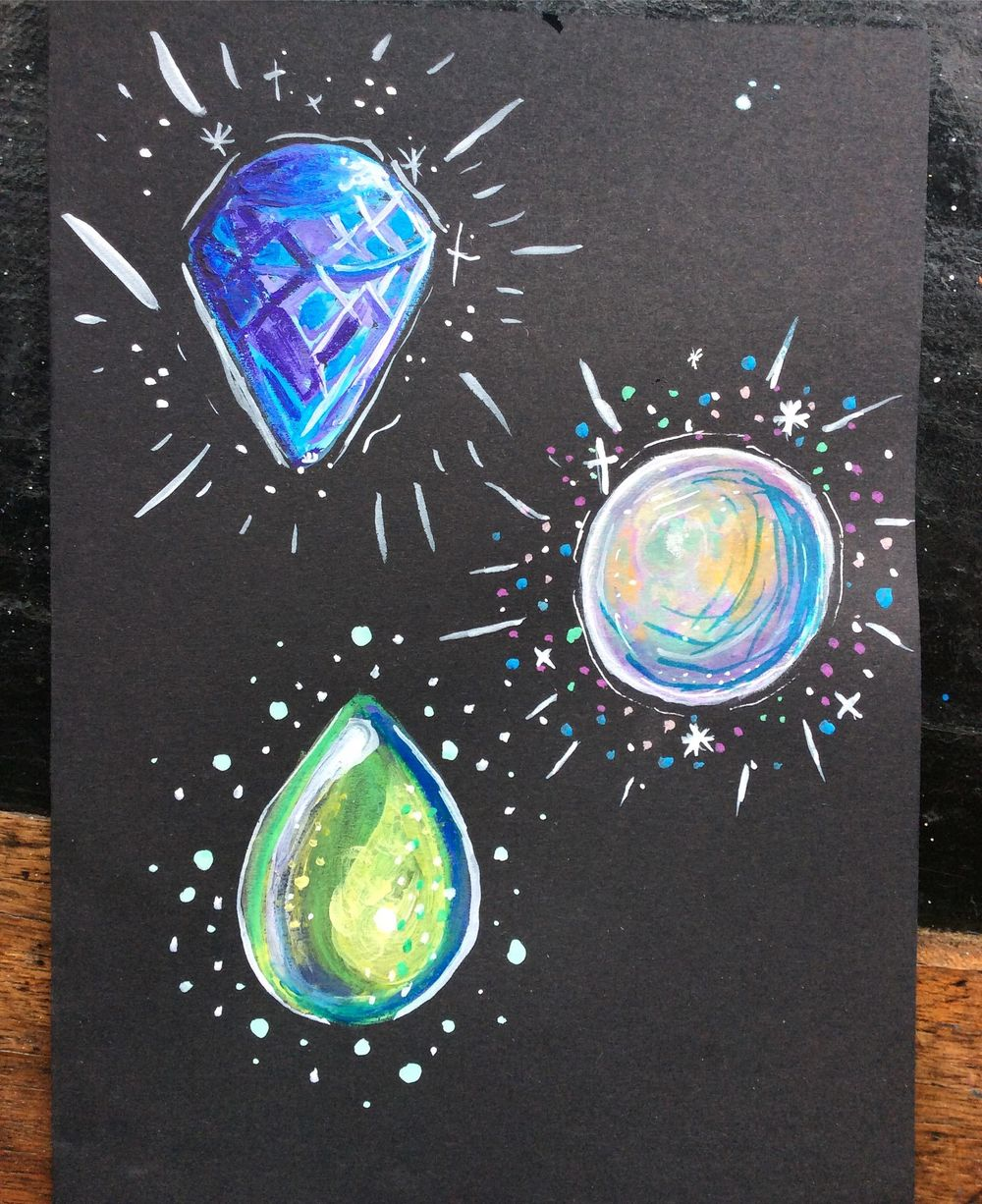 Attempting Crystals in Watercolour - image 3 - student project