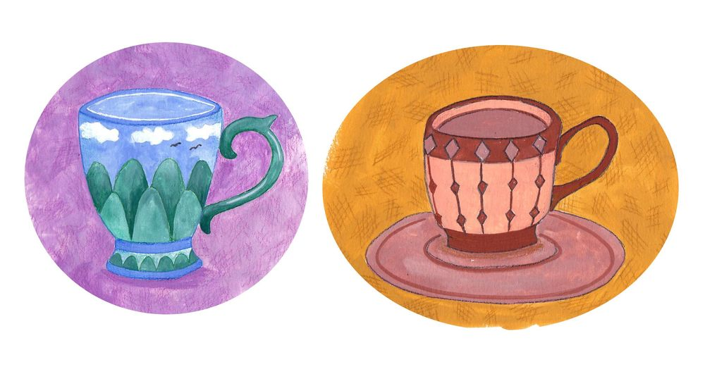 Gouache Teacups - image 1 - student project