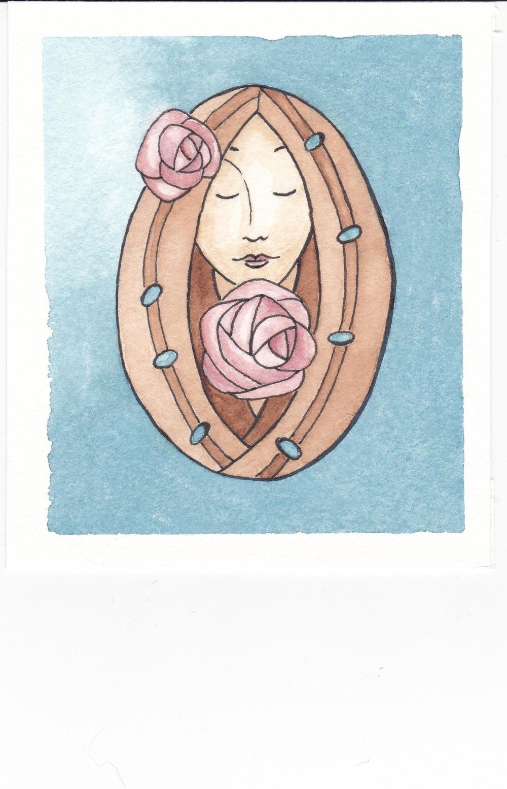 Glasgow Rose Girl - image 2 - student project