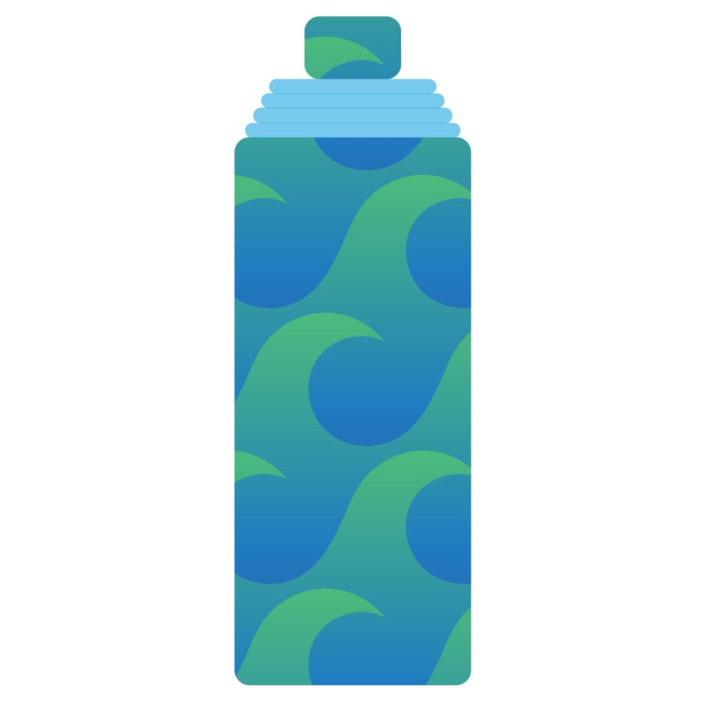 Wave Pattern Water Bottle - image 1 - student project