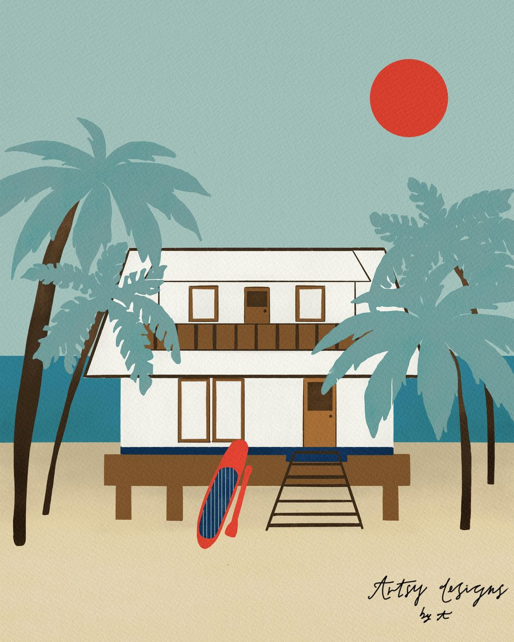 Beach house - image 1 - student project