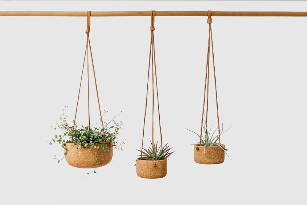 Melanie Abrantes Designs- Hanging Leather Planters - image 1 - student project