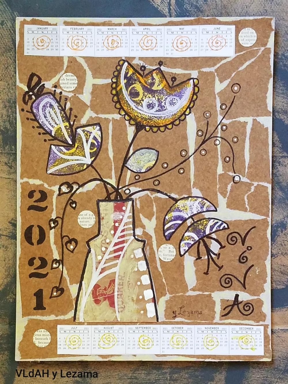2021 Collage Calendar. - image 1 - student project