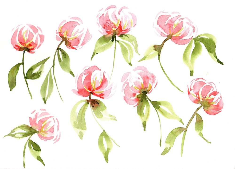 Loose Watercolor Tulips - image 1 - student project