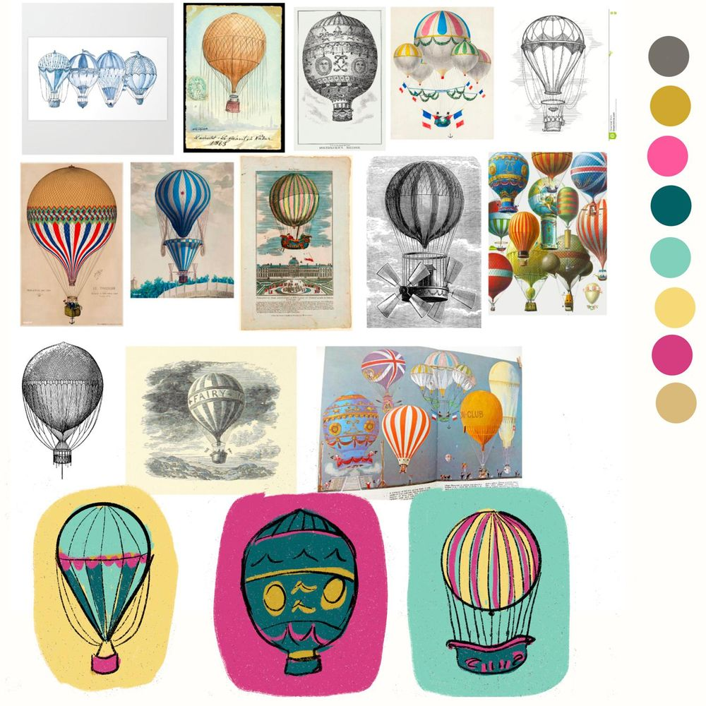 Vintage Hot Air Balloon series - image 2 - student project