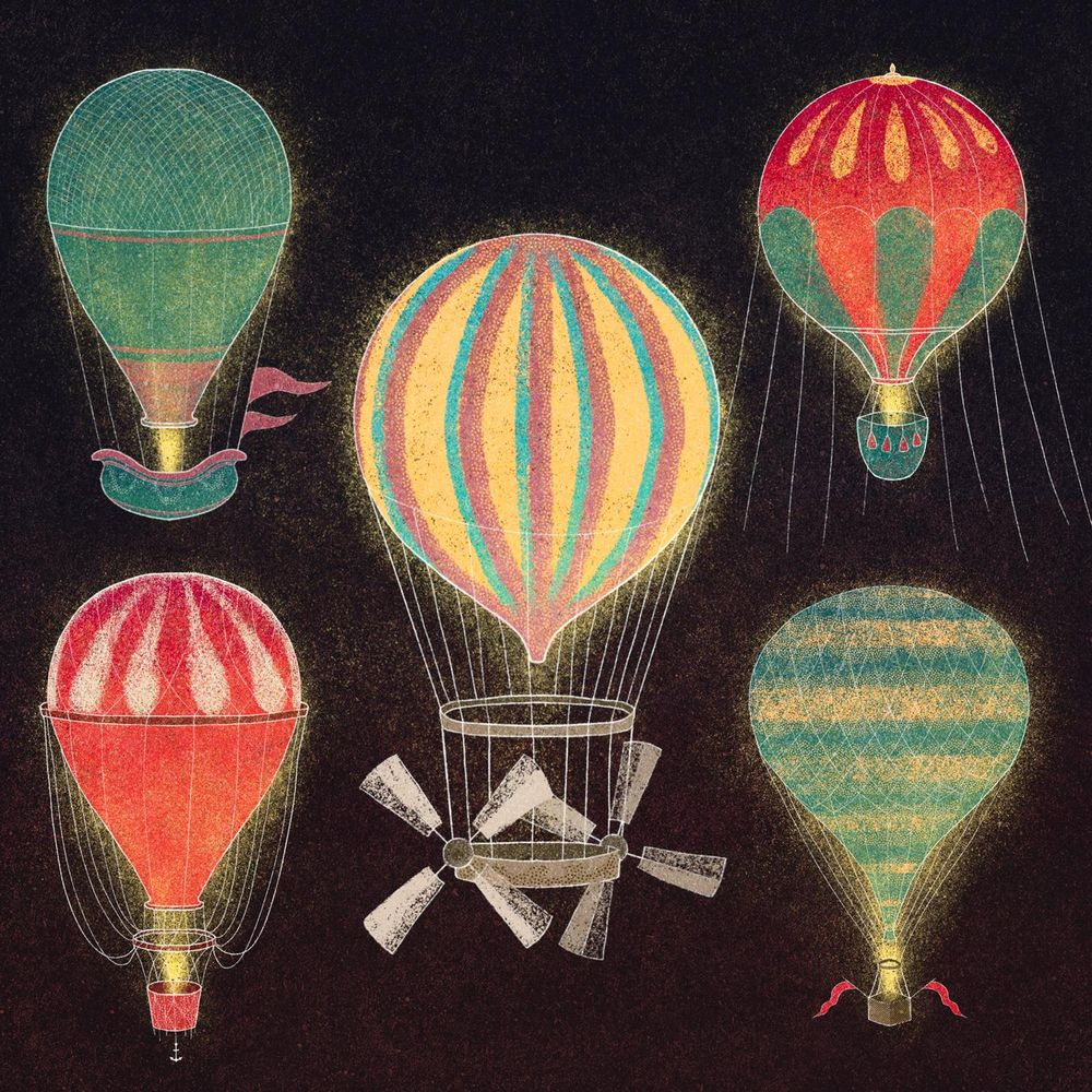 Vintage Hot Air Balloon series - image 1 - student project