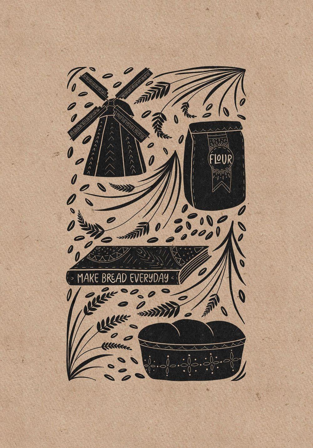 Moth folk illustration - image 2 - student project