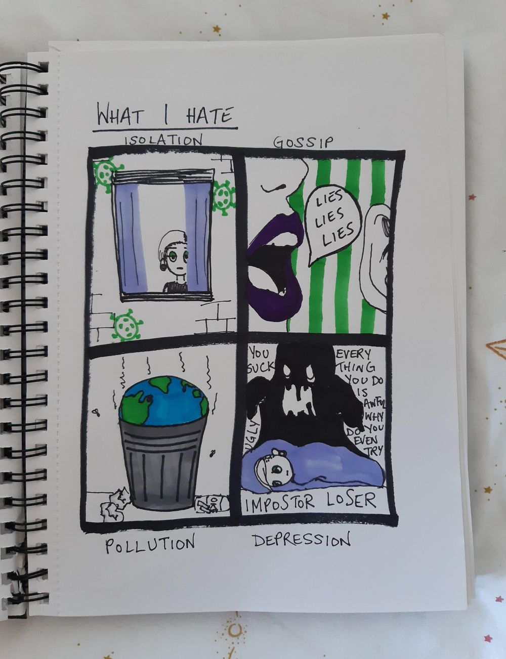 Visual Journaling: Drawing Your Feelings - image 2 - student project