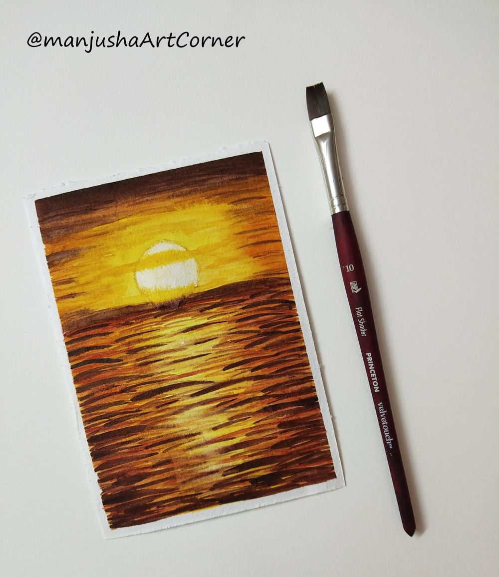 Intense Sunset Landscape - image 1 - student project
