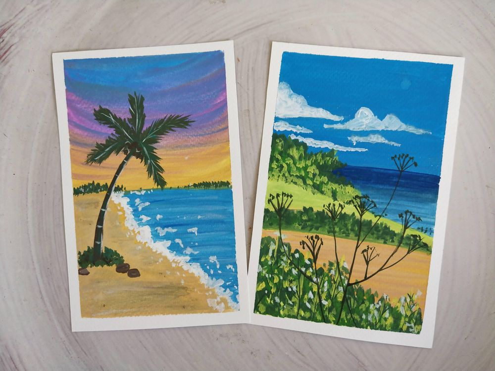 Goauche Landscapes for beginners - image 1 - student project