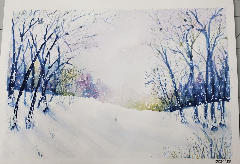 Wintery Landscape - image 1 - student project