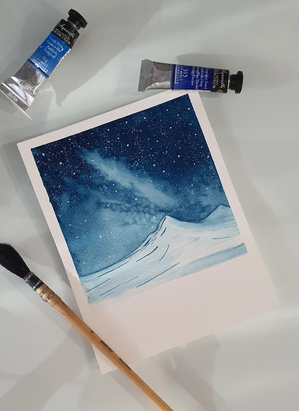 Snowy Galaxy Landscape - image 3 - student project