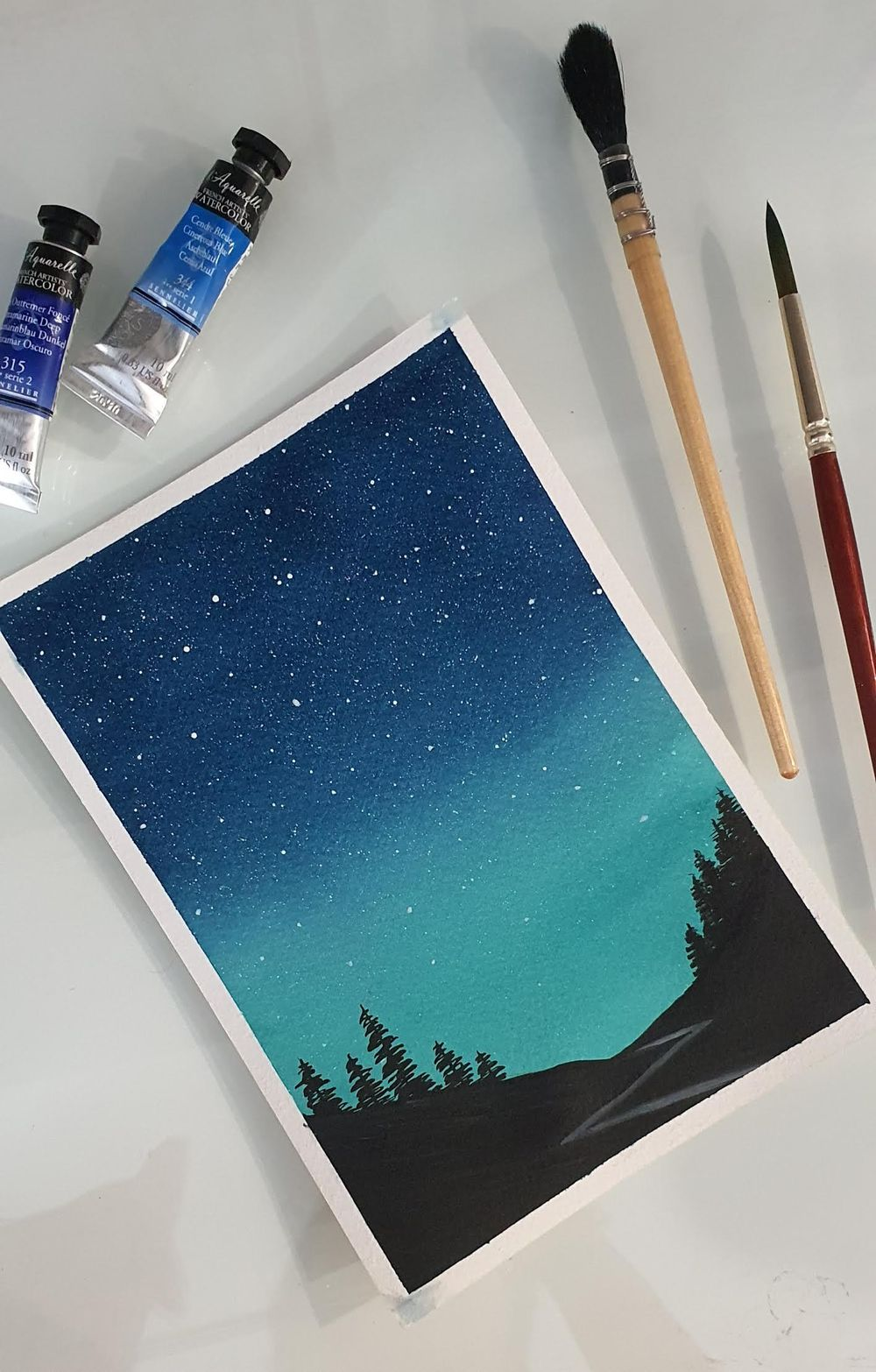 Watercolor Galaxies - image 2 - student project