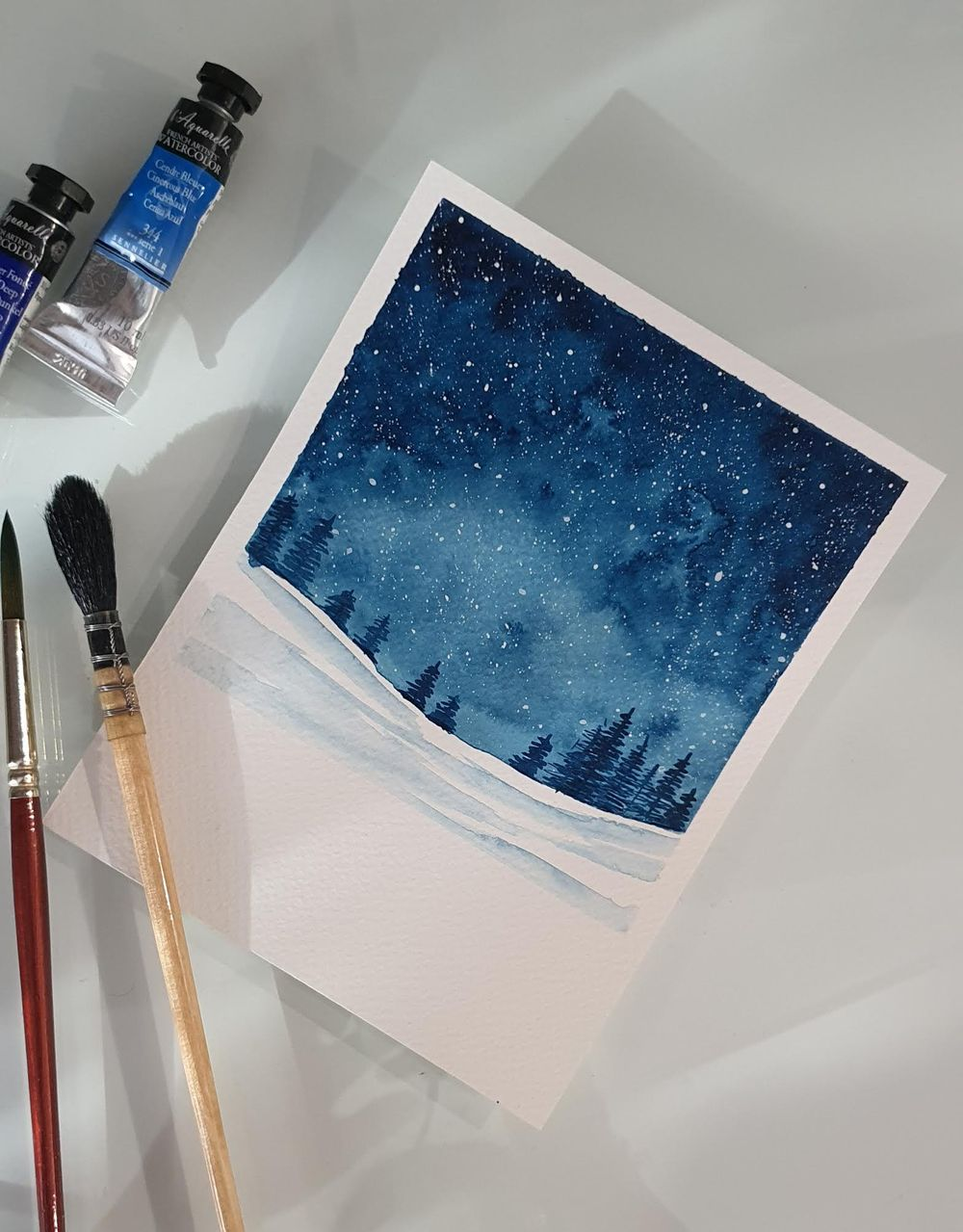 Snowy Galaxy Landscape - image 2 - student project