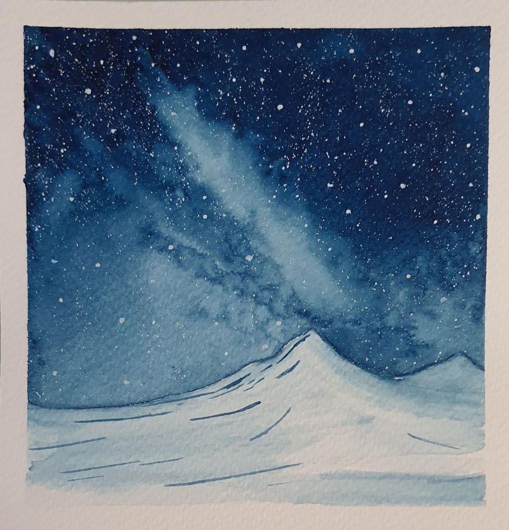 Snowy Galaxy Landscape - image 1 - student project