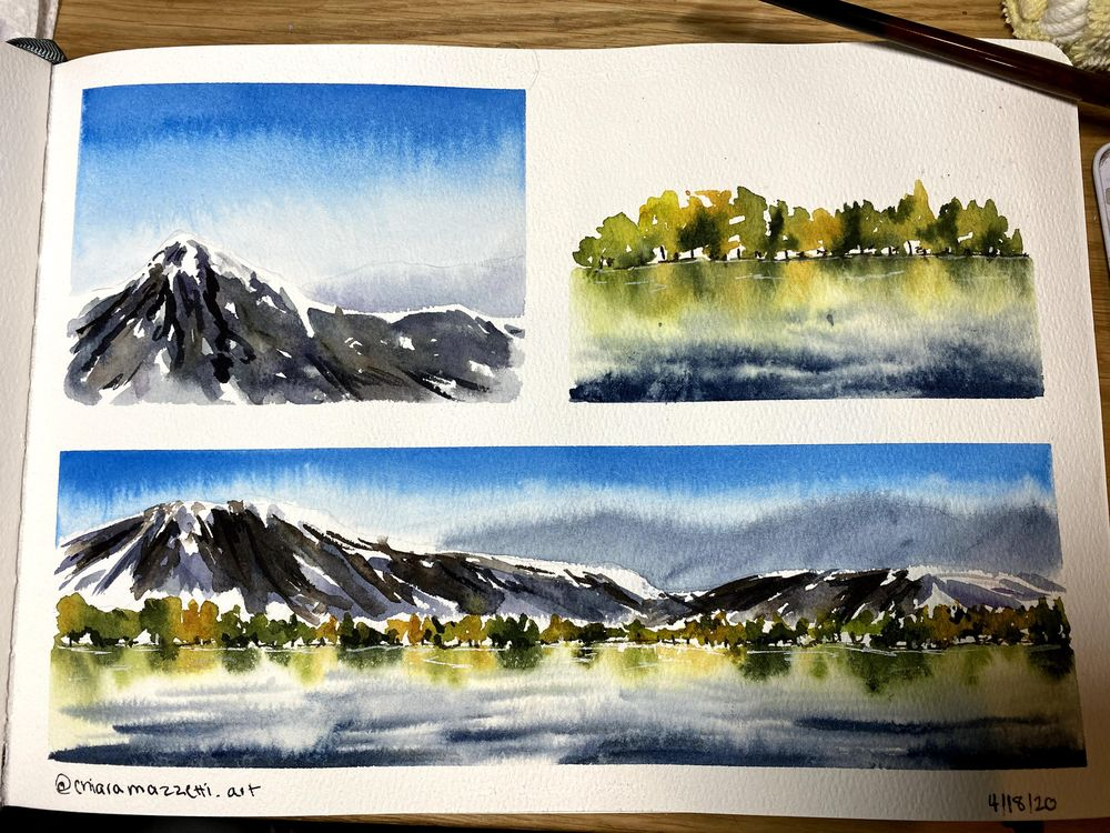Mountains and Reflections - image 1 - student project