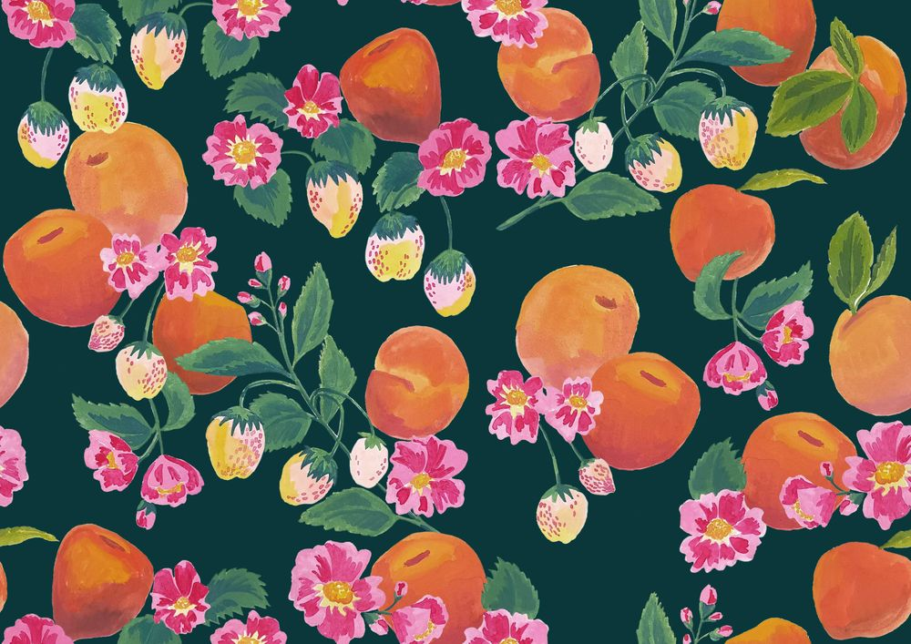 Gouache fruits patterns - image 3 - student project