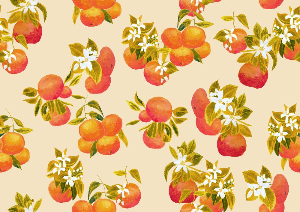 Gouache fruits patterns - image 4 - student project