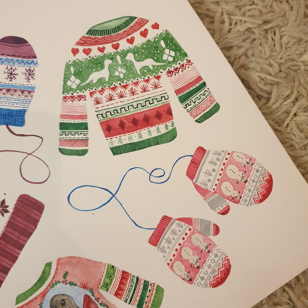 Cute Christmas patterns - image 3 - student project