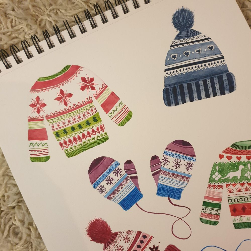 Cute Christmas patterns - image 2 - student project