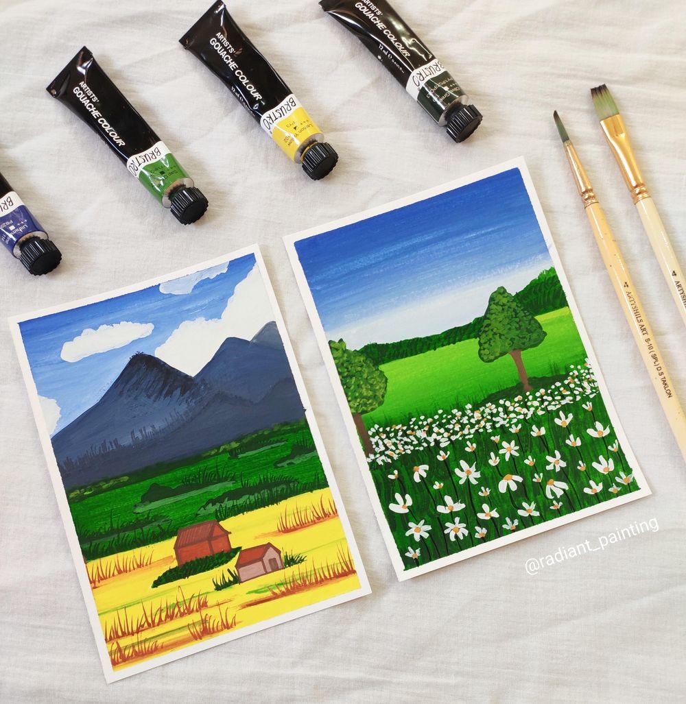 Beginners Gouache Landscape - image 1 - student project