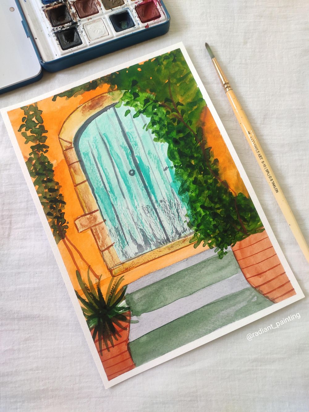 Watercolor Rustic Old Doors - image 2 - student project