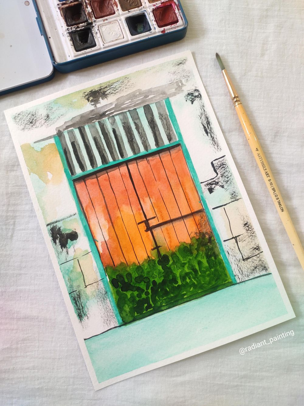 Watercolor Rustic Old Doors - image 1 - student project