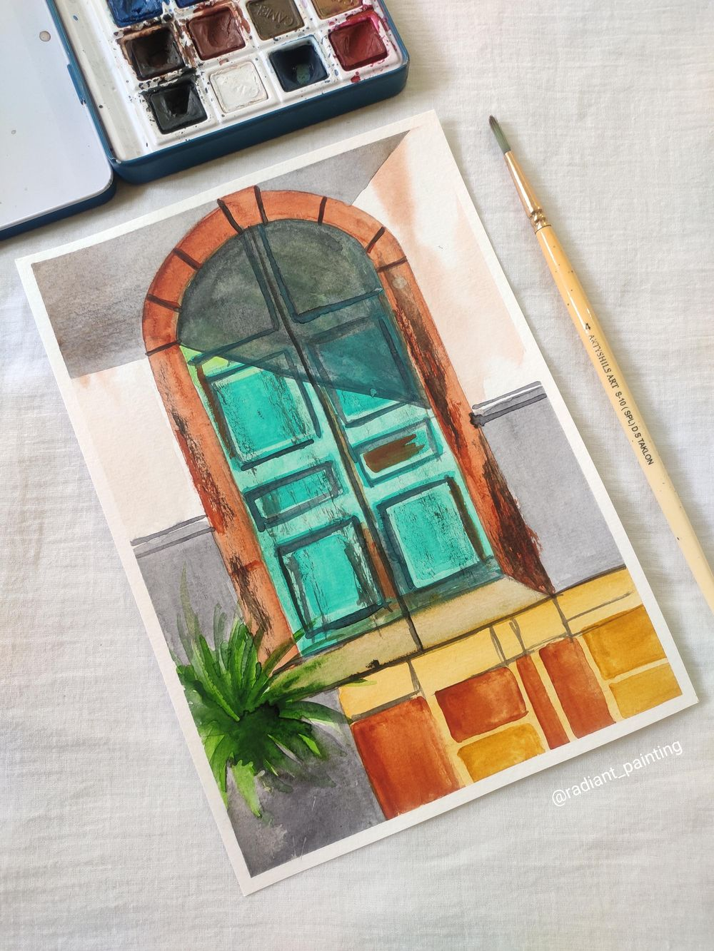 Watercolor Rustic Old Doors - image 3 - student project