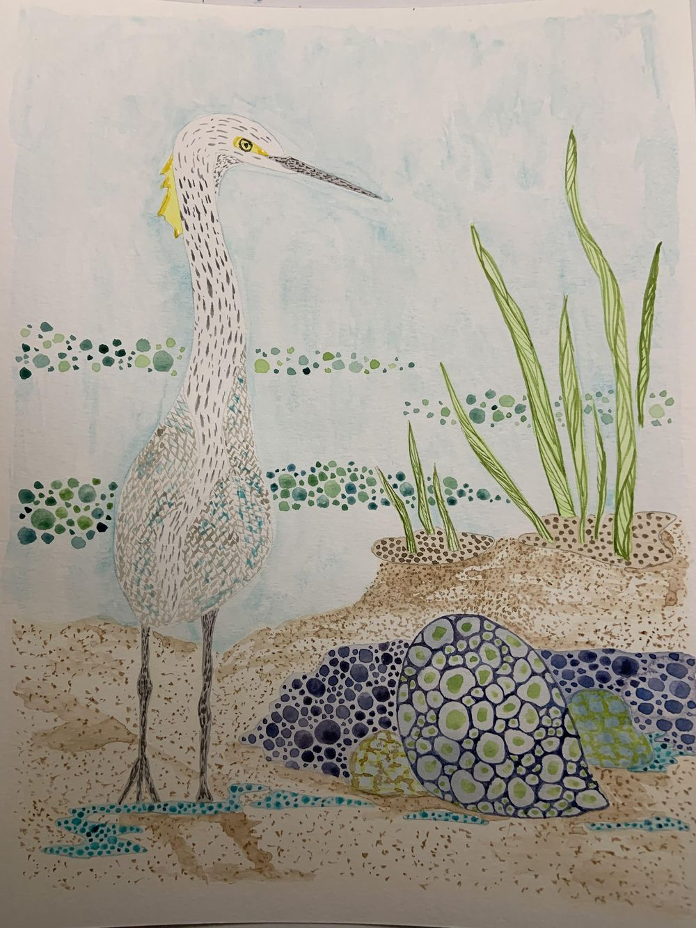 Snowy Egret - image 2 - student project