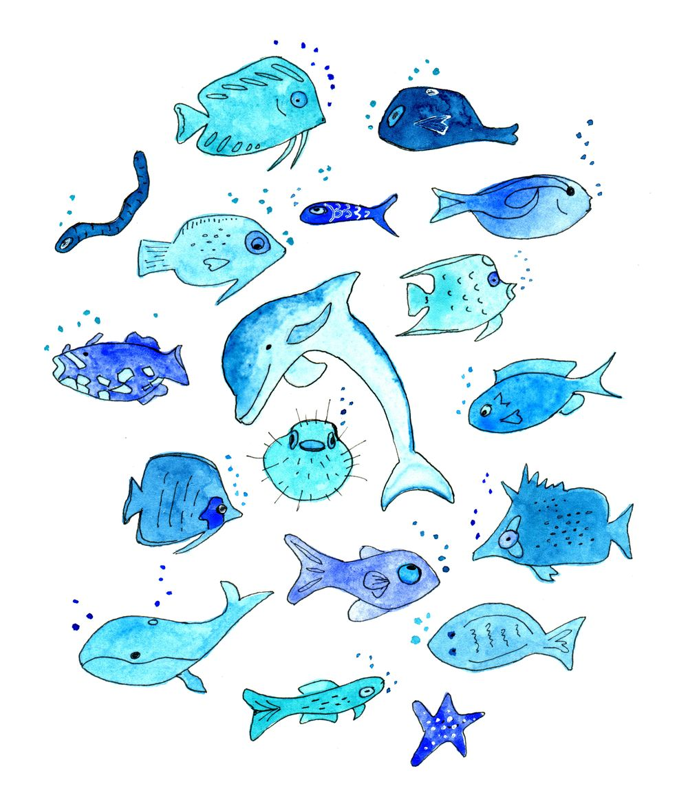 Sealife in Blue - image 1 - student project