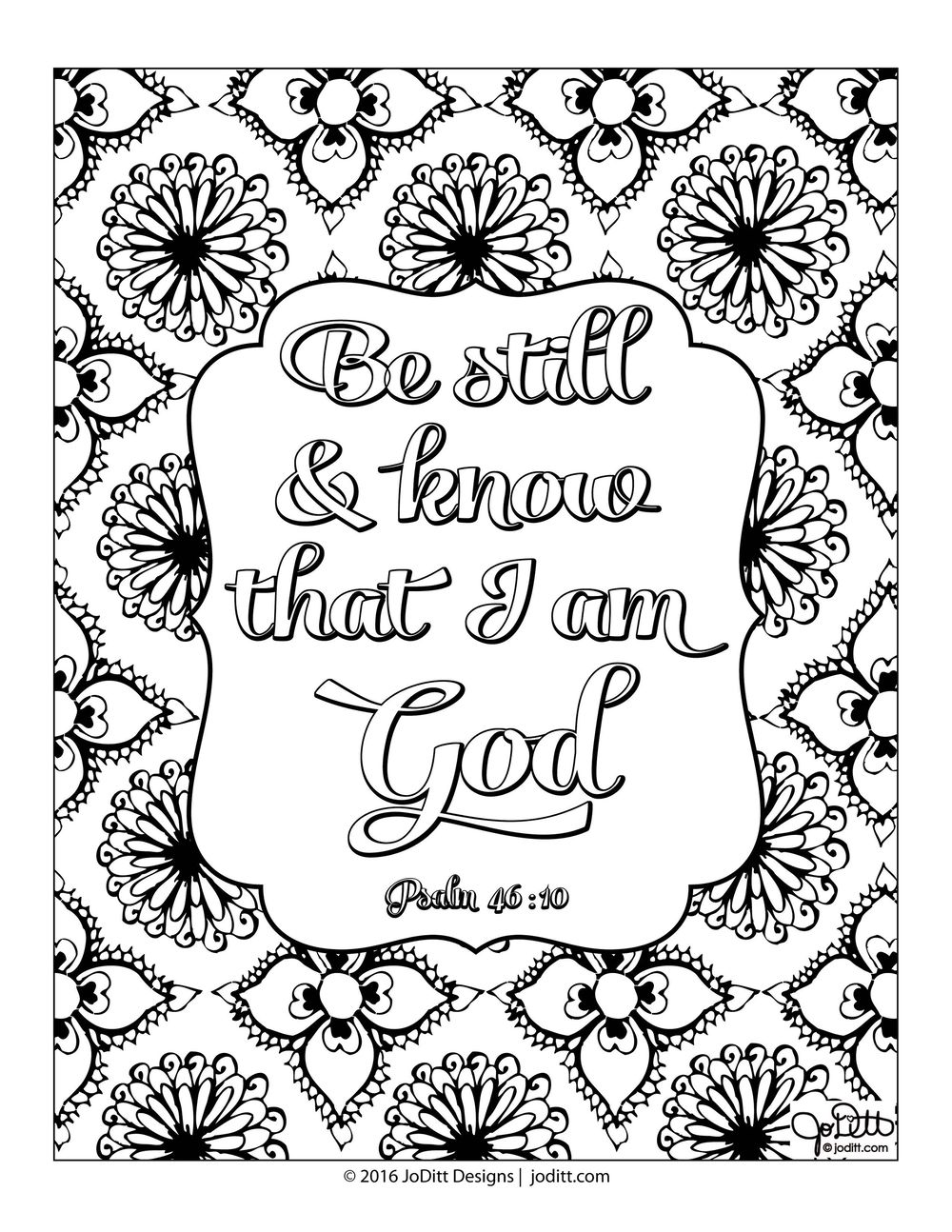 Coloring page -Be still - image 1 - student project