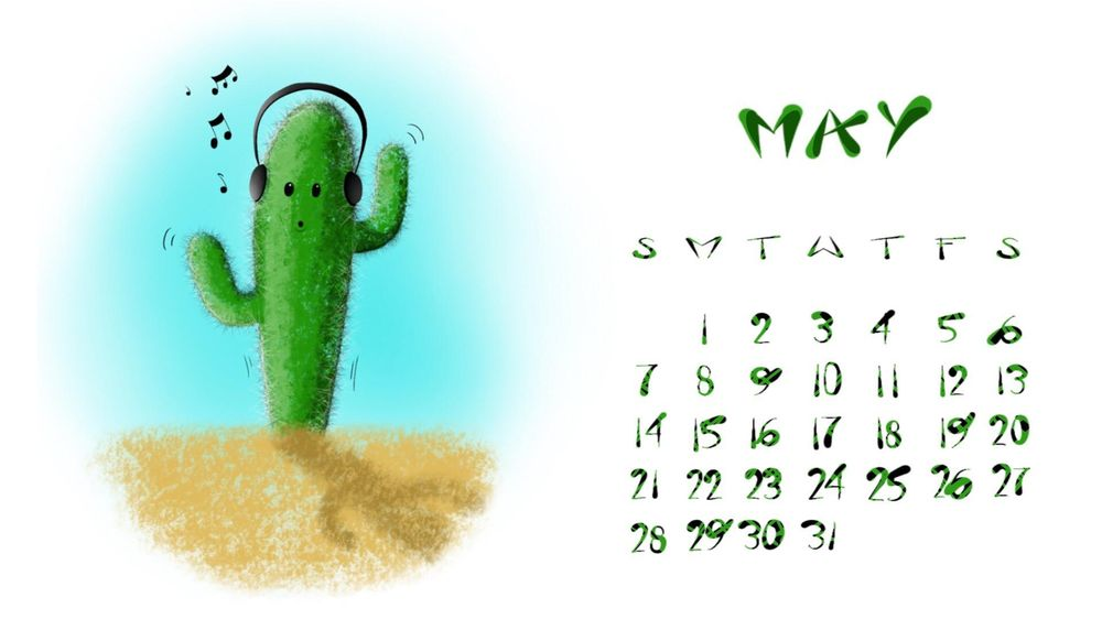 May Calendar - image 1 - student project