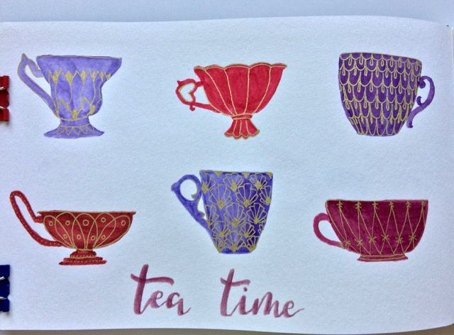 Tea cups - image 1 - student project