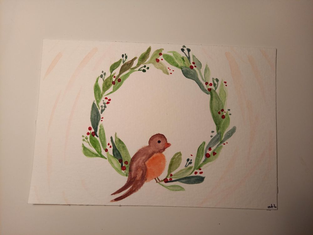 wreath and birdie - image 3 - student project