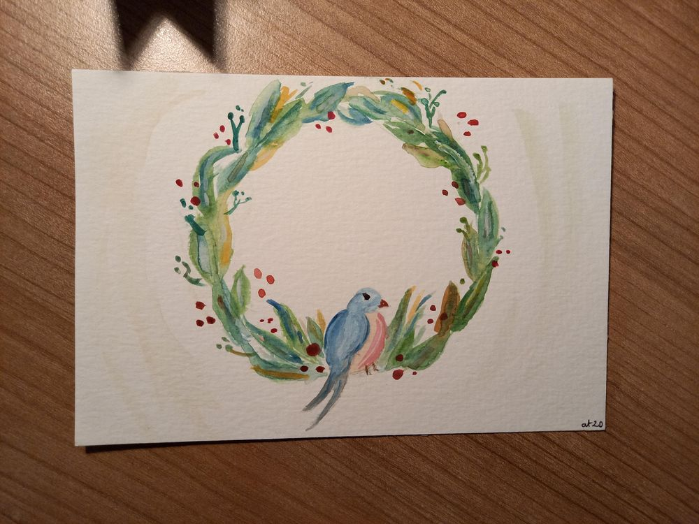 wreath and birdie - image 2 - student project