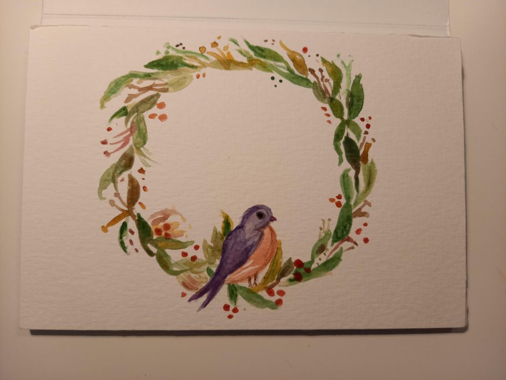 wreath and birdie - image 1 - student project