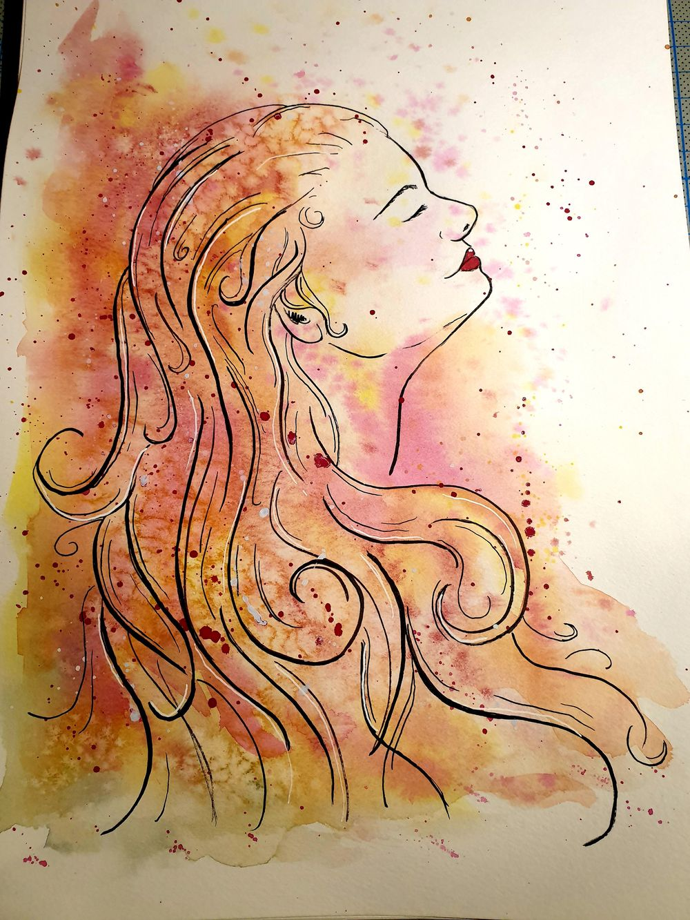 Ink and Watercolor - image 2 - student project